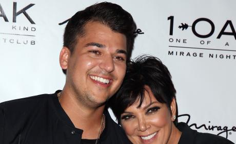 Kris Jenner with Rob Kardashian