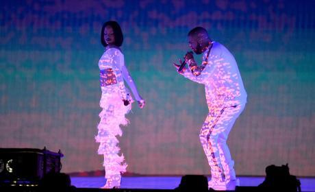 Rihanna and Drake Perform At the 2016 BRIT Awards