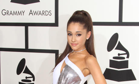 Adriana Grande at the 2015 Grammys