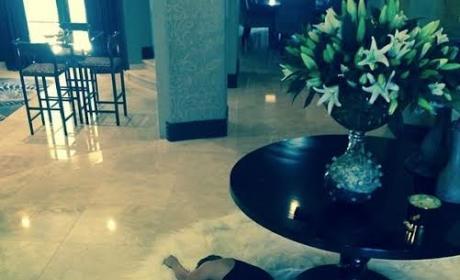 Kaley Cuoco Floor Photo