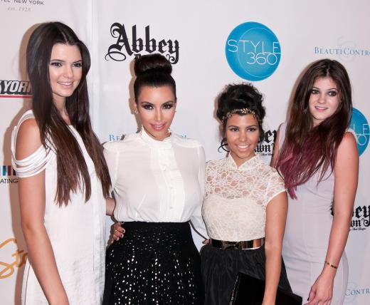Kendall Jenner, Kim Kardashian, Kourtney Kardashian and Kylie Jenner