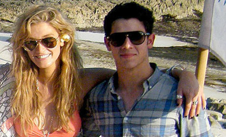 Delta Goodrem and Nick Jonas in Bali
