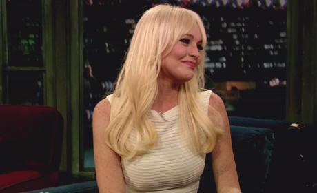 Lindsay Lohan on Late Night