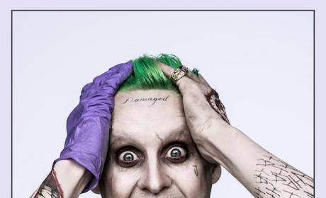 Jared Leto as The Joker: First Crazy Look!