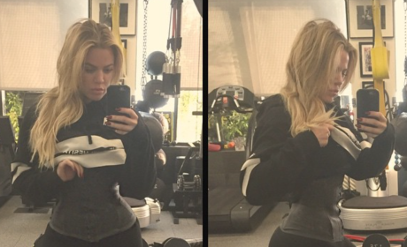 Khloe Kardashian Flaunts Tiny Waist, Is Such a Sellout