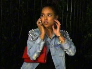 Karrueche at the Club