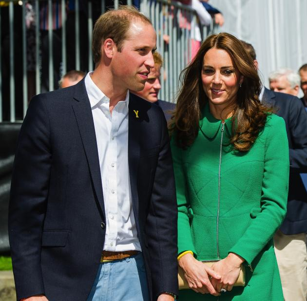 Kate Middleton in a Green Dress
