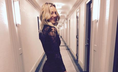 Kaley Cuoco Looks Fancy