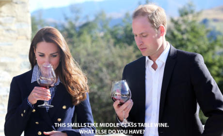 Kate Middleton and Prince William Sample Wine