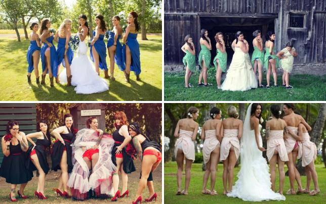 Bridesmaids flash their butts see the photos flashing bridal party