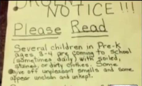 Pre-K Teacher Sends Home Note to Parents: Your Kids Smell Rank!