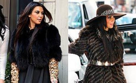 Kim Kardashian in fur is...
