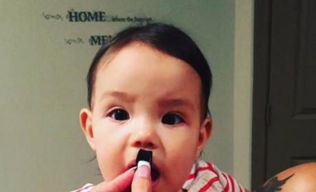 Tila Tequila Posts Photo of Infant Daughter Wearing Hitler Mustache