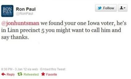Ron Paul Takes Shot at Jon Huntsman on Twitter