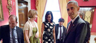 Toddler Throws Temper Tantrum in Front of President Obama
