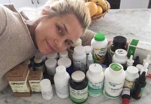 Yolanda Foster With Medication