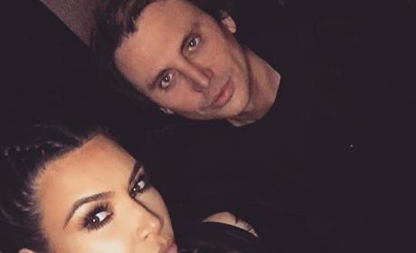Kim Kardashian, Jonathan Cheban Selfie