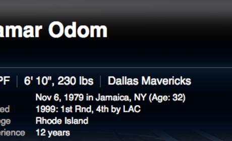 Lamar Odom Continues to Suck in Dallas