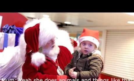 Santa Claus Shares Heartwarming Moment with Hearing-Impaired Child