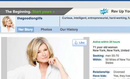 Martha Stewart Match.com Profile: Revealed!