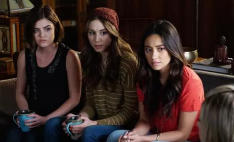 Aria, Spencer and Emily