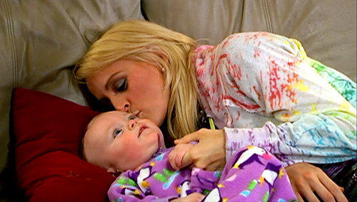 Leah Messer and Daughter