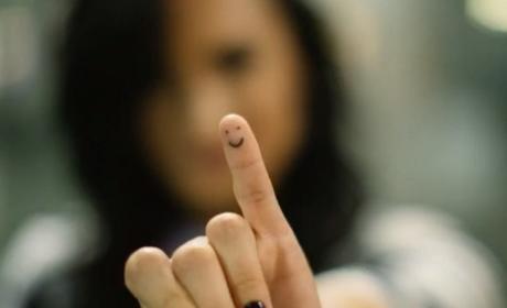 Demi Lovato Finger Tattoo