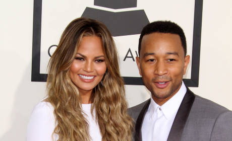 Chrissy Teigan and John Legend at the Grammys