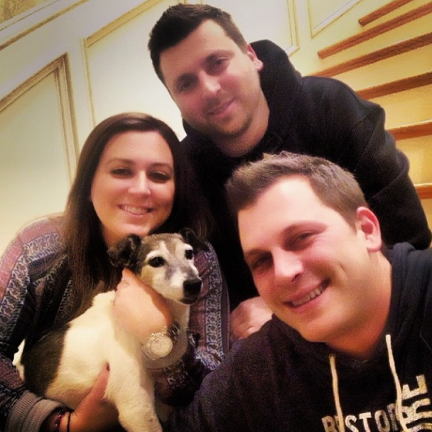 Manzo Family and Dog