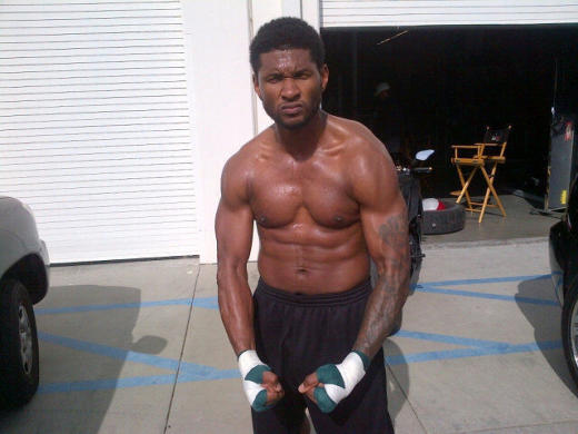 Usher Shirtless Photo