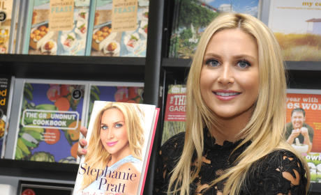 Stephanie Pratt with Book