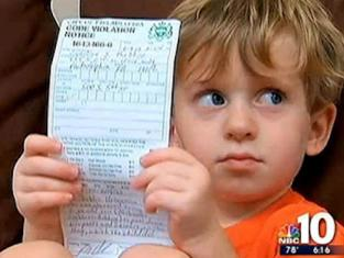 Boy with Ticket