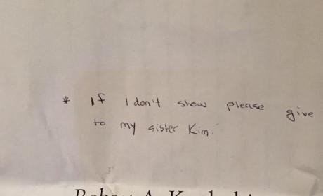 Rob Kardashian Reunion Letter