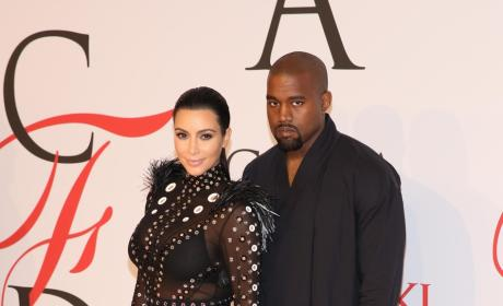 Pregnant Kim and Kanye
