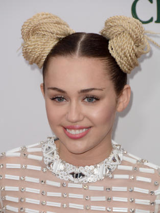 Miley Cyrus with Buns