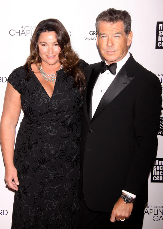 Pierce Brosnan and Keely Shaye Smith