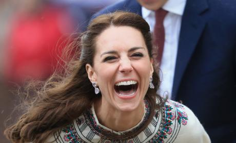 Kate Middleton Laughs After Firing Arrow in Bhutan