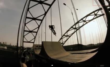BMX Rider Flips Out, Performs Crazy Tricks on Moving Truck