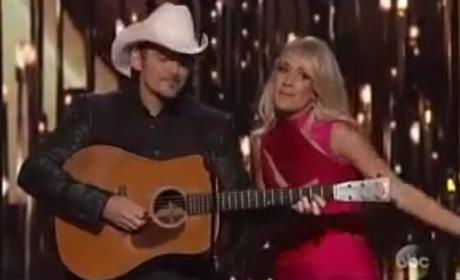Carrie Underwood-Brad Paisley Monologue Rips Blake, Duggars & More