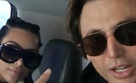 Jonathan Cheban Introduces Kim to Snapchat