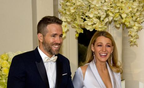 Ryan Reynolds and Blake Lively at White House