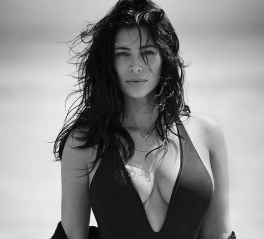 Kim Kardashian Swimsuit Shot for Editorialist