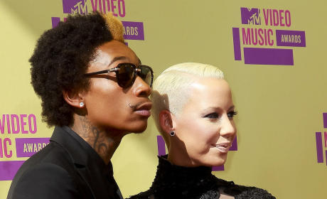 Amber Rose and Wiz Khalifa at the VMAs