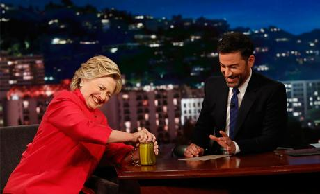 Hillary Clinton Opens Jar of Pickles, Proves She's in Fine Health