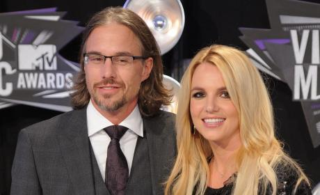 Britney Spears and Jason Trawick at the VMAs
