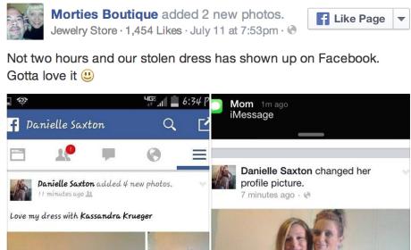 Woman Snaps Selfie in Stolen Boutique Dress, Get Arrested