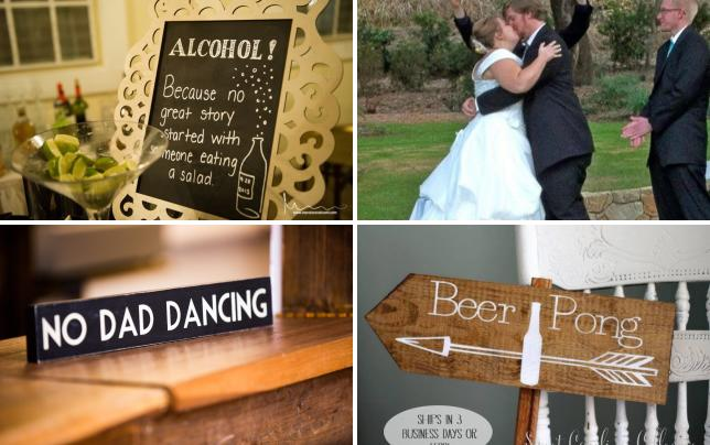 17 awesome wedding signs blame it on the