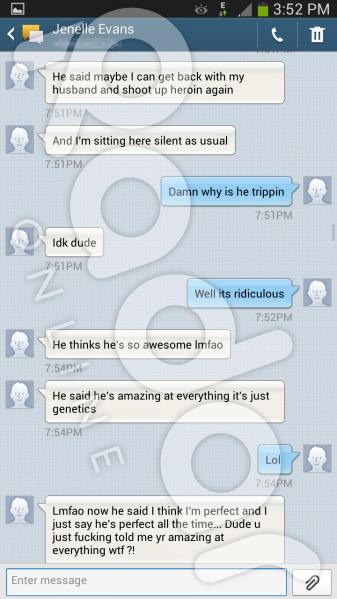 Jenelle Evans Text Message to Friend