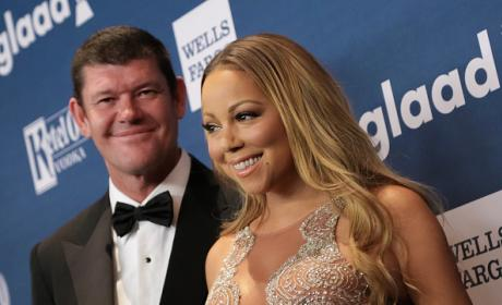 Mariah Carey and James Packer at 27th Annual Glaad Awards