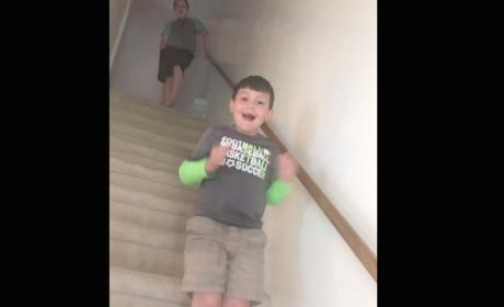Young Boy Reacts to Cancer-Free Diagnosis